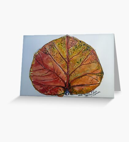 Leaf. Nha Trang Vietnam. Pen and wash 2013Ⓒ Greeting Card