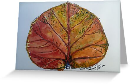 Leaf. Nha Trang Vietnam. Pen and wash 2013Ⓒ by Elizabeth Moore Golding