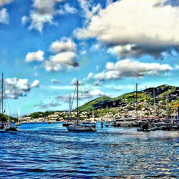 St. Thomas VI - Boats in Harbor by SudaP0408
