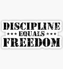 Discipline Equals Freedom Sticker