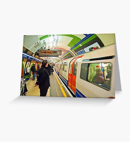 Going Underground: London Piccadily Circus Tube Station Greeting Card
