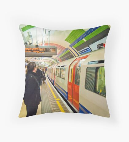 Going Underground: London Piccadily Circus Tube Station Throw Pillow