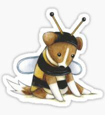Sprawling Bee Sticker