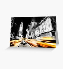 Time Lapse Square Greeting Card