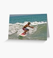 Dancing With Waves Greeting Card