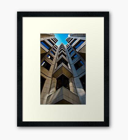 Angle Office. Framed Print