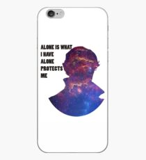 Alone Protects Me iPhone Case