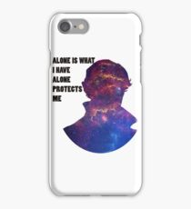 Alone Protects Me iPhone Case/Skin