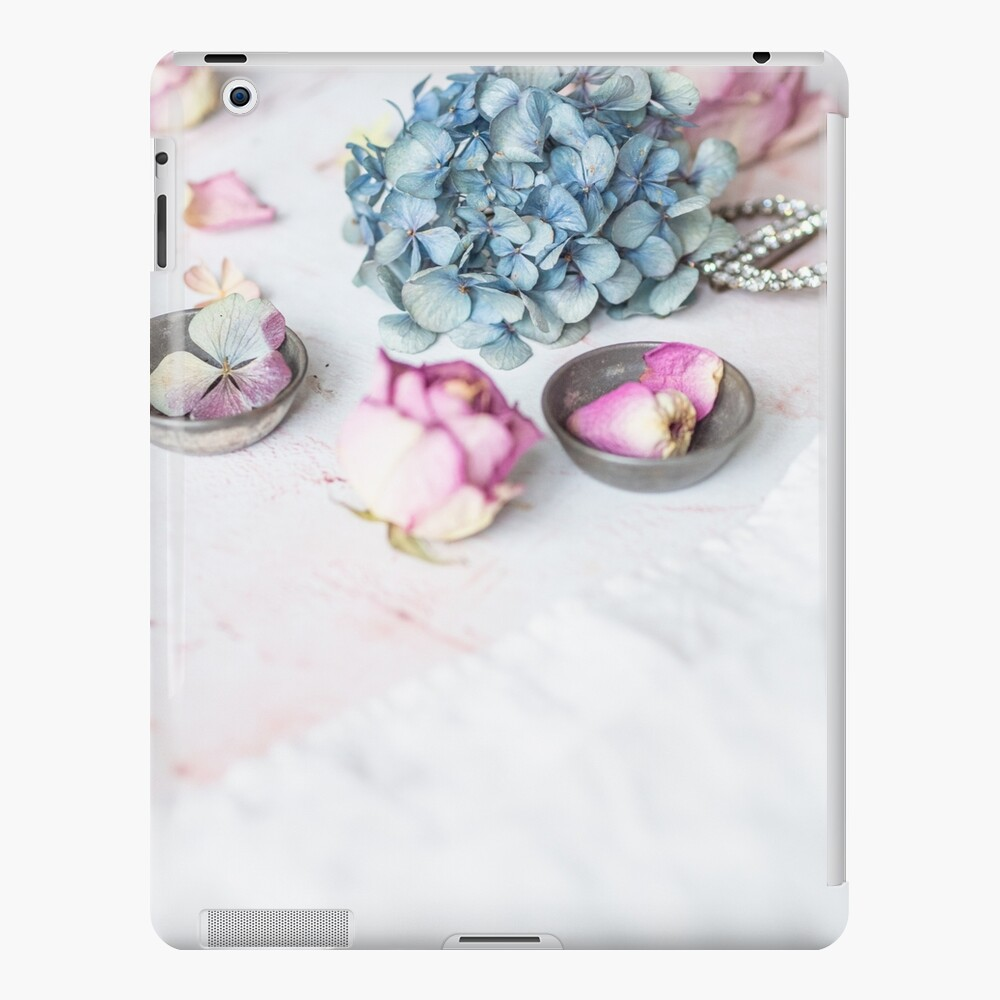 Hydrangea and pink petals iPad Case & Skin
