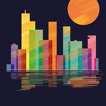 skyline nightfall by fer3407xzhtvz8