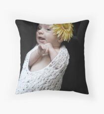 Flower Baby Throw Pillow