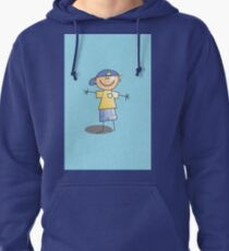 Boy in Cap by Chillee Wilson Pullover Hoodie