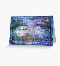 Buddha Awakening spiritual art with quotes Greeting Card