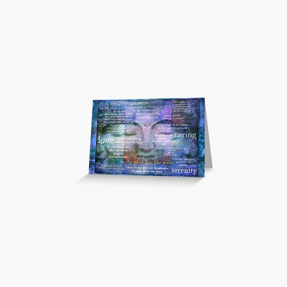 Buddha Awakening spiritual art with quotes Greeting Card