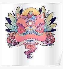 Meerjungfrau Löwentanz Poster