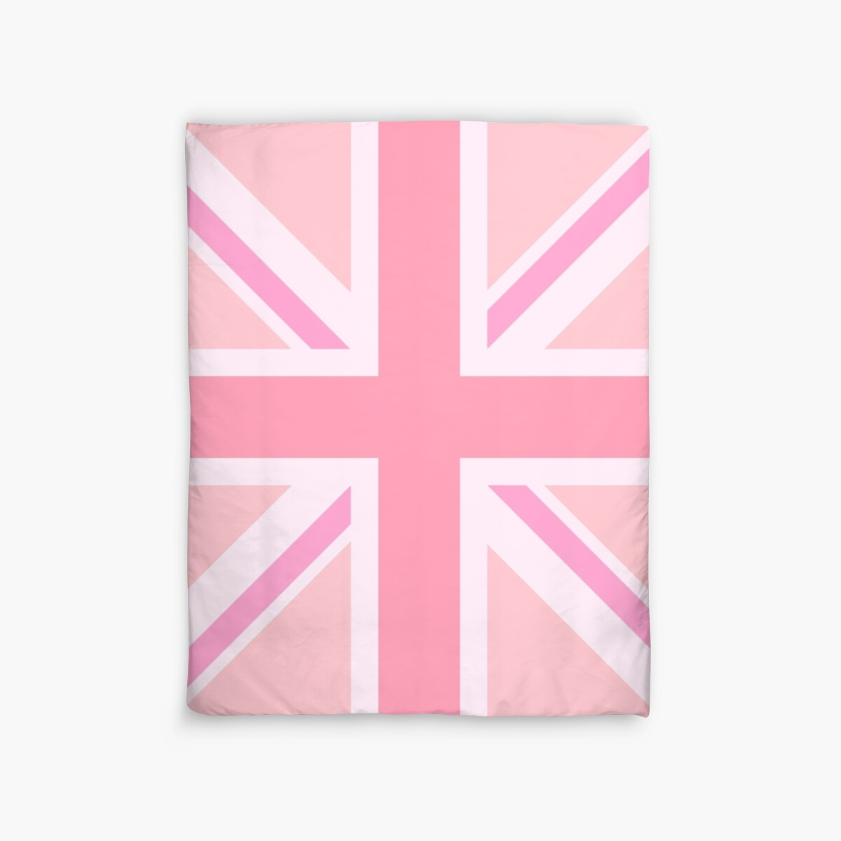 Pink union jack flag design duvet covers by for Pink union jack bedding