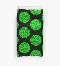 'A' [Green] by Chillee Wilson Duvet Cover