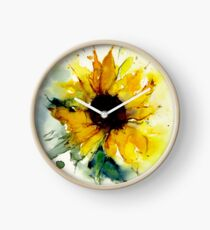 Sonnenblume Uhr