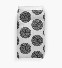 'A' [Black] by Chillee Wilson Duvet Cover