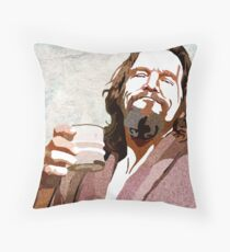 Big Lebowski DUDE Portrait Throw Pillow