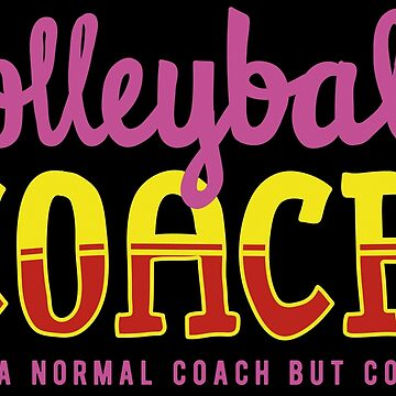 Cool Volleyball Coach by Vectorbrusher