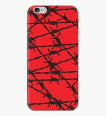 Barbed Wire [Red] by Chillee Wilson iPhone Case