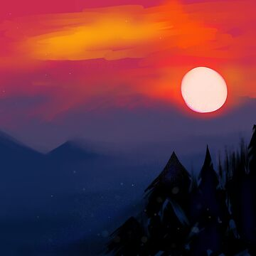 Sunset over the Mountain by CruelBlue