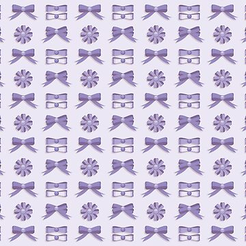 Girly purple bow seamless vector pattern by limengd