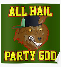 All Hail Party God - Adventure TIme Poster