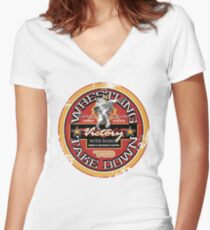 victory with honor Women's Fitted V-Neck T-Shirt