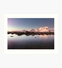 Lyngenalps by Moonlight Art Print