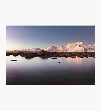 Lyngenalps by Moonlight Photographic Print