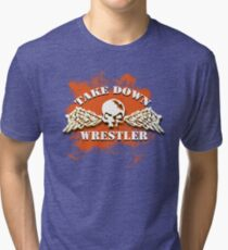 skull wings Tri-blend T-Shirt