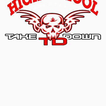 high school wrestler by takedown