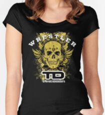 gold wings wrestler Women's Fitted Scoop T-Shirt
