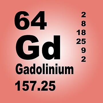 Gadolinium Periodic Table of Elements by walterericsy