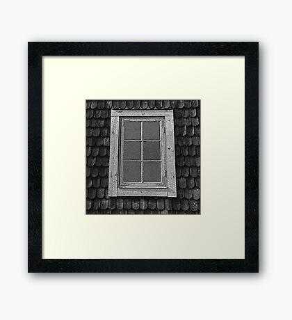 Attic grunge, Swedish cottage. Framed Print