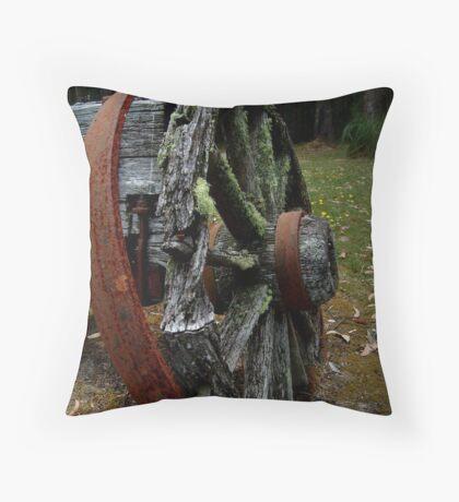 Mossy Wagon Wheel,Otway Ranges Throw Pillow