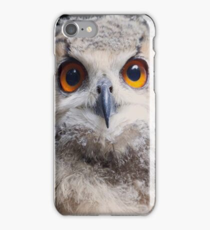 Hi..I am an owl baby  of 3 months old ... iPhone Case/Skin