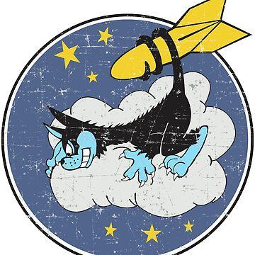 VP-24 Black Cat Squadron - Grunge Style by pzd501