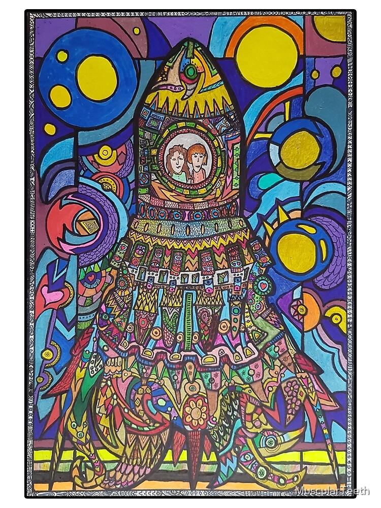Colourful Rocketship by MuscularTeeth