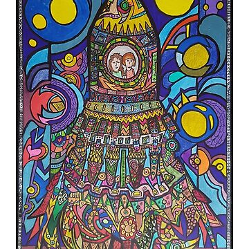 Colourful Rocketship by MuscularTeeth