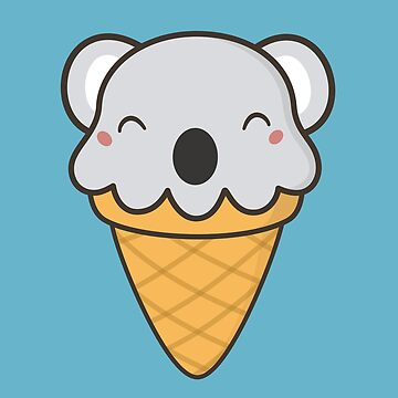 Scrumptious Kawaii Cute Koala Ice Cream by happinessinatee