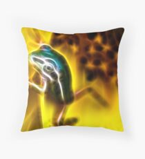 FrogArt Throw Pillow