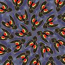 red winged blackbirds by iKiska