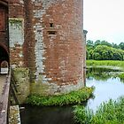 Moat at Caerlaverock Castle - southern coast of Scotland by Marilyn Harris