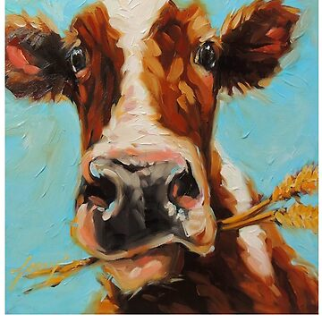 Holstein Cattle - Holstein Cow Painting - Holstein Cow Gift - Gift For Cow Lovers by Galvanized