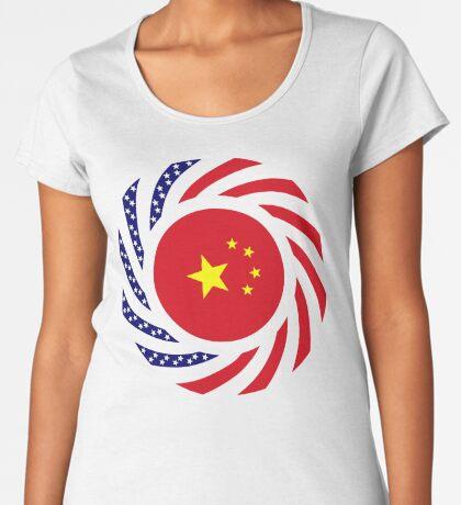 Chinese American Multinational Patriot Flag Series Premium Scoop T-Shirt