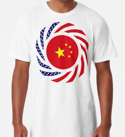 Chinese American Multinational Patriot Flag Series Long T-Shirt