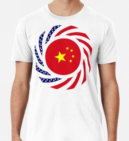 Chinese American Multinational Patriot Flag Series Premium T-Shirt